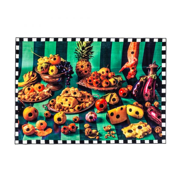 Seletti Toiletpaper Rectangular Rug Food with Holes 1