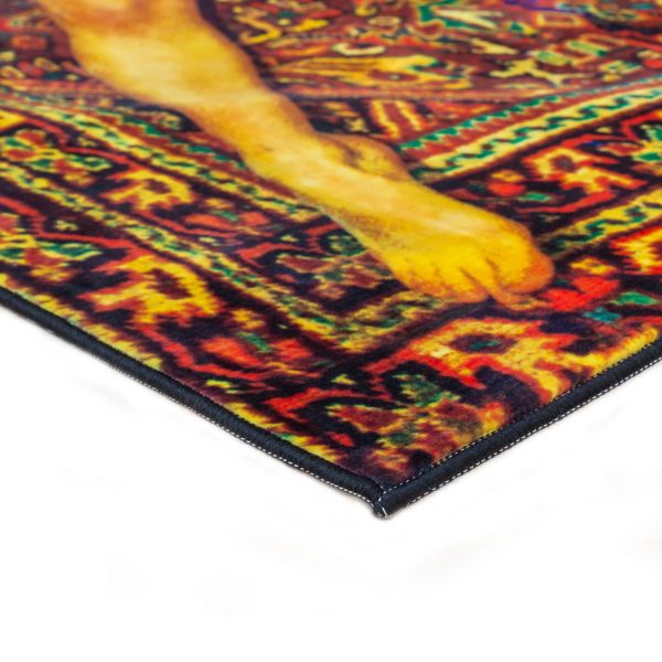 Seletti Toiletpaper Rectangular Rug Lady on Carpet 2