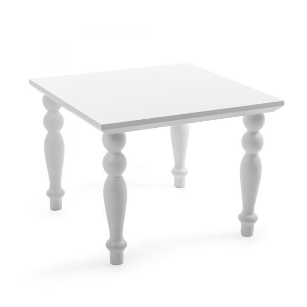 SELETTI HERITAGE COFFEE TABLE SQUARE WHITE 2