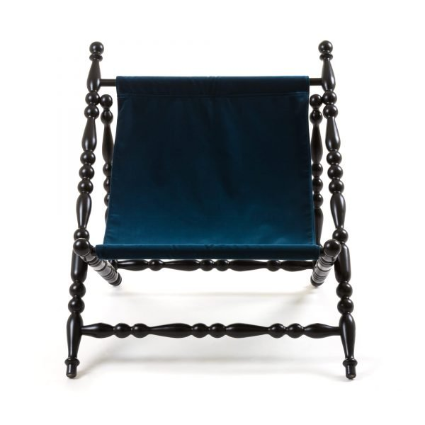 SELETTI HERITAGE FOLDABLE DECKCHAIR BLUE:BLACK 1