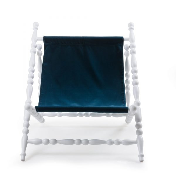 SELETTI HERITAGE FOLDABLE DECKCHAIR BLUE:WHITE 1