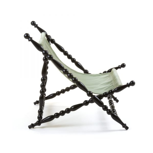 SELETTI HERITAGE FOLDABLE DECKCHAIR GREEN:BLACK 3