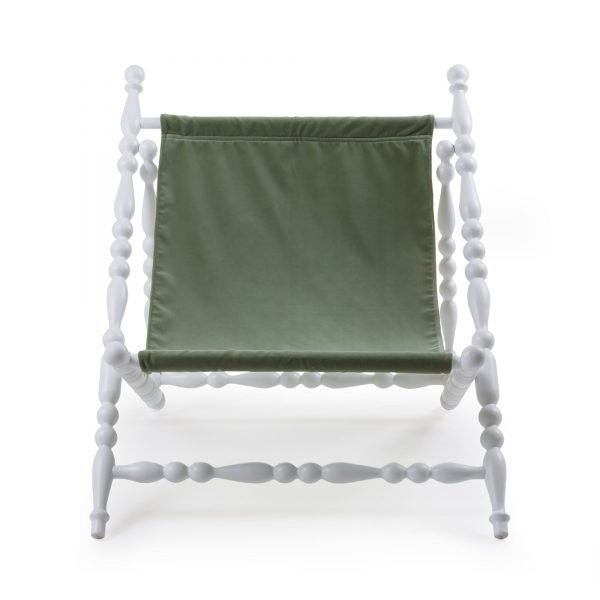 SELETTI HERITAGE FOLDABLE DECKCHAIR GREEN:WHITE 1