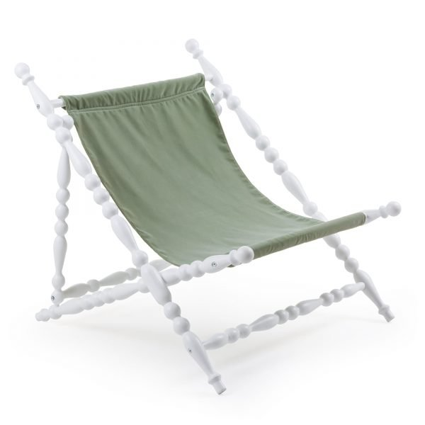 SELETTI HERITAGE FOLDABLE DECKCHAIR GREEN:WHITE 2