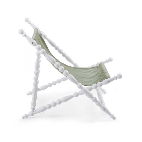 SELETTI HERITAGE FOLDABLE DECKCHAIR GREEN:WHITE 3