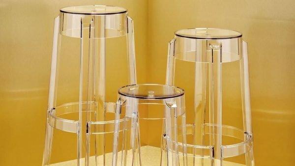 Amazing kartell charles ghost bar stool philippe starck pertaining