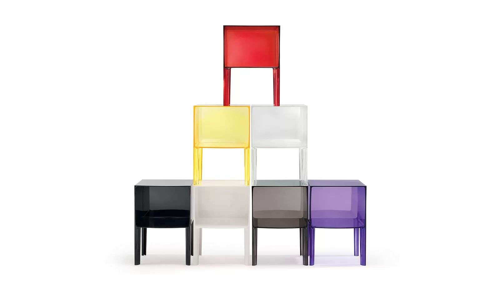 Kartell ghost buster small ghost buster com comodino for Mobili kartell