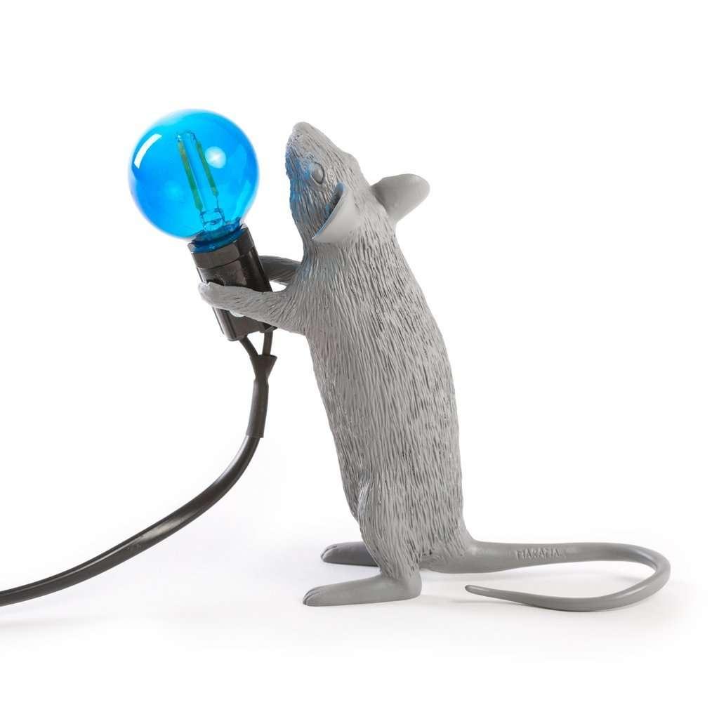 seletti mouse lamp grey lampada topo grigia della pia home 1965. Black Bedroom Furniture Sets. Home Design Ideas