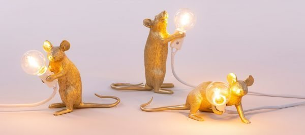 SELETTI MOUSE LAMP GOLD INTRO