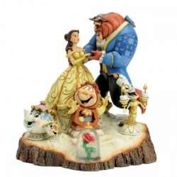 BEAUTY AND THE BEAST (WOOD CARVED) /T20